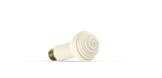 Ceramic Infrared Edison Screw Bulb from Ceramicx